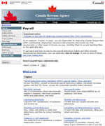 Canada Revenue Agency - Payroll